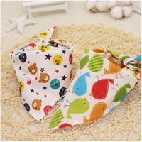 Wholesale multi design scarf for sale - Group buy Cartoon Pattern Child Mouth Towel Cotton Pet Tie Baby Bib Cotton Triangular Scarf More Color Antifouling Dog Design dmC1