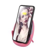 maquiagem móvel venda por atacado-Carregador sem fio, moda universal carregador sem fio levou luz espelho de maquiagem com três modos de escurecimento suporte do telefone móvel (rosa)