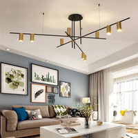 Wholesale pipe chandeliers for sale - Group buy Creative Design LED Chandeliers Lighting Personality Hanging Branch Lamp for Living Room Cafe Bar Bar Studio Restaurant