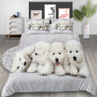 Wholesale cute puppy beds resale online - Cute Puppy Bedding Set Queen Size Lovely Fashionable D Duvet Cover King Twin Full Single Double Comfortable Bed Cover with Pillowcase