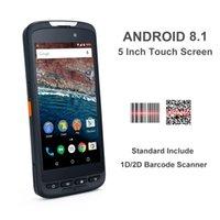 rfid reader android venda por atacado-WIFI Terminal de Dados de Alta Qualidade Móvel Handheld Courier PDA NFC RFID Leitor Android 8.1 sem fio 1D 2D Laser Barcode Scanner