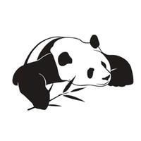 ingrosso adesivi design cinese-Nuovo stile animale Home Decor PVC impermeabile autoadesivo cinese Panda Wall Stickers per bambini Camera da letto decorazione