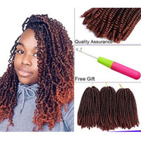 Wholesale purple kanekalon braiding hair resale online - 3 Pack Ombre Spring Twist Crochet Braids Bomb Twist Crochet Hair TB for Women Kanekalon Synthetic Fluffy Braiding Hair Extensions