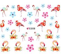 tierabziehbild nail art aufkleber großhandel-Heißer Nagel Aufkleber Tier Serie Wasser Aufkleber Tier Blume Pflanze Muster 3D Maniküre Aufkleber Nail Art Dekoration