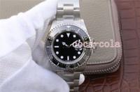 мужские часы оптовых-Luxury Best Factory 43 мм Sea-Dweller 126600 50-летие Cerachrom Керамическая сталь Швейцарский механизм ETA 2813 Механические автоматические мужские часы Часы