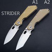 cuchillo plegable cnc strider al por mayor-CUCHILLO táctico plegable STRIDER SMF Y-START (440C + G10 Handle) Cuchillo de supervivencia para exterior EDC CNC Knife