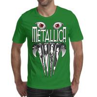 ingrosso gli occhi dei denti-Metallica Monster eye teeth band Printed Mens Shirts Maglietta a maniche corte a girocollo impressionante