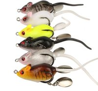 Wholesale soft crankbait lures resale online - 1PCS Soft Mouse Bait Fishing Lure cm g Floating Crankbait Artificial Bait Fishing Tackle Bait Bells Sound Fishing