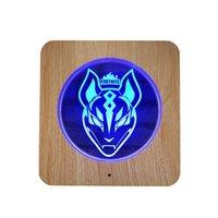ingrosso lampade di lupo-Scultura in legno acrilico 3D LED Lamp lupo 3D di notte della luce 7 colori del lupo degli animali per la casa lampade della decorazione Best per il bambino ...
