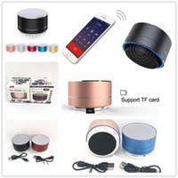 mini caixa de som para telefones venda por atacado-Novo LED MINI Bluetooth Speaker A10 TF Sem Fio USB Música Portátil Caixa de Som Subwoofer Altifalantes Para S10 XS telefone Inteligente