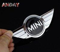 autocollants métalliques 3m achat en gros de-Grande vente emblème MINI 3D Decal autocollant de voiture 3M Badge Chrome Métal Cooper logo tronc