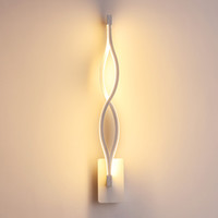 Wholesale bathroom wall lamps for sale - Group buy Modern black white wavy wall lamp W Wall Lamp Fixture AC220V Acrylic Wall Mounted Bathroom Lighting Bedside lamp