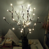 ingrosso piante artificiali hanno portato le luci-Piante artificiali LED Willow Tree Branch Lights 20 Bulbs Piante in plastica Decorazioni per matrimoni per la casa Fake Plante Artificielle