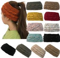 298ac706b8aaa Wholesale winter sports headband online - Knitted Hat Headband Women Winter  Sports Headwrap Hairband Turban Head