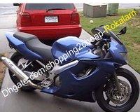 ingrosso honda cbr f4 abbellimento 1999 blu-Kit carenatura del corpo F4 per Honda CBR600F4 99 00 CBR600 CBR 600 CBRF4 1999 2000 Kit carenatura blu (stampaggio ad iniezione)