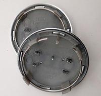 tampa central de audi a4 center venda por atacado-69 milímetros O centro de roda Hub Caps Emblem Logo Chrome para Audi A3 A4 A5 A6 A8 S4 S5 S6 R8 RS4 RS6 Q3 Q5 Q7 TT 4B0601170A