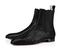 ingrosso super perfette scarpe-Scarpe da uomo gentiluomo rosso Bottom Scarpe da uomo griffato Roadie Orlato Scarpe medio piatto Casual, stivaletto super perfetto per uomo Leopard