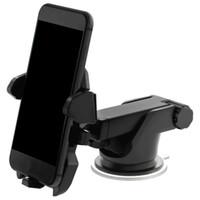 support gps réglable achat en gros de-Support de téléphone de voiture mobile universel 360 degrés réglable porte pare-brise pour tableau de bord support pour tous les supports de téléphone portable GPS