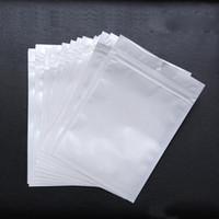 ingrosso sacchetti del pacchetto di vendita al dettaglio-PVC sacchetto di plastica perla Plastica Poly OPP cerniera di imballaggio Chiusura a zip Vendita al dettaglio Chiaro bianco Pacchetti Gioielli cibo di molte dimensioni disponibili 50% di sconto