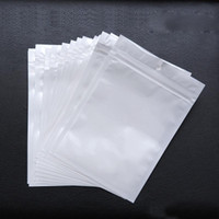 sacos de tamanho de jóias venda por atacado-Saco de plástico de PVC pérola Plástico Poli OPP embalagem zíper Fecho Zip Varejo Branco claro Pacotes de Jóias de alimentos muitos tamanho disponível 50% de desconto