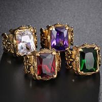paare ringen rubin großhandel-Titanstahl-Castingpaarhochzeitsringe der berühmten Entwerfermarke karminroten Männer bilden Ringe Ringe für Geschenk und Partei freies Verschiffen