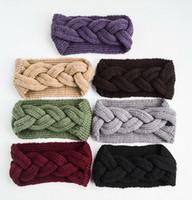 chapéu para as meninas venda por atacado-DHL 2018 NOVO Headband Malha chapéu Faixa de Cabelo Mulheres Moda Crochet acrílico variegada Headbands Inverno Quente Meninas cabelo acessório