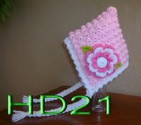 Wholesale custom made winter hats resale online - Baby Crochet Knitted Cap Winter Beanie Plane Design Children Halloween Christmas Girls Newborn Infant Toddler Cotton Custom made Mix Order
