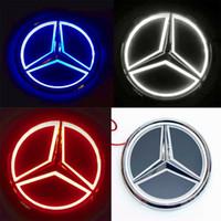 Wholesale led car badge light resale online - 8 cm x cm D Mercedes Car Led Emblem Badges Front Rear Car Light Lamp