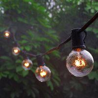 cadena de luz vintage al por mayor-G40 Globo Fiesta Cadena de Navidad Luz guirnalda boda jardín fiesta en el árbol calle Patio Luces de hadas Bulbos de época al aire libre