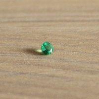 изумрудная форма оптовых-Продвижение природных Изумруд сыпучих камень 3 мм*3 мм круглой формы 0.1 ct природных Колумбия изумруд сыпучих камень для кольца