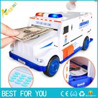çocuklar para banka oyuncakları toptan satış-Dijital Kumbara Çocuk Oyuncak Para Kutusu Tasarruf Mevduat Kutuları Elektronik Tirelire Enfant Çocuk Nakit Araba Para Güvenli Kamyon
