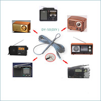 Wholesale hd signal meter resale online - 5 Meters FM SW Short Wave core pure copper Aerial HD Crocodile clip Signal Enhanced Antenna For Tecsun Sony Radio
