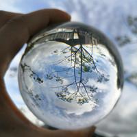 glass ball lens großhandel-Klare Linse Ball Fotografie Prop Kristallkugel 80mm K9 Kristallglas Dekor Globus Meditation Heilung Magie Feng Shui Kugel