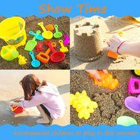 pás de ancinho venda por atacado-ABS Areia Da Praia Da Água Jogar Brinquedos Set Crianças Crianças Lado Balde Pá Rake Kit Construção Cavalo Marinho Moldes Ferramentas Engraçadas