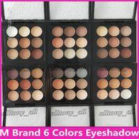 kit de maquillaje de paleta de sombra de ojos sombra de ojos al por mayor-M Brand Makeup Eyeshadow Palette Kit Burgundy Eye Shadow X9 Matte Satin Eyes Pro Color 9 Compact High Quality Cosmetic DHL Envío gratis