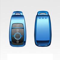 télécommande pour mercedes achat en gros de-Brevet TPU voiture à distance clé Shell couvercle de la coque pour Mercedes-Benz nouvelle classe E accessoires de voiture Styling
