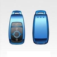 anahtarlar otomatik benzinler toptan satış-Patent TPU Araba Oto Uzaktan Anahtar Kılıfı Kabuk Mercedes-Benz Yeni E Sınıfı Araba Aksesuarları Styling