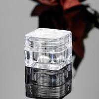 medicina garrafas de vidro garrafa venda por atacado-50 PCS 5G Cosméticos Vazio Jar Pot Sombra Maquiagem Creme Para O Rosto Recipiente Garrafa Acrílico para Cremes Produtos Para Cuidados Com A Pele ferramenta de maquiagem