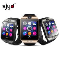 telefones inteligentes de tela grande venda por atacado-Relógio inteligente q18 1.54 polegada big touch screen bluetooth pulseira de pulso moda sim telefone relógio com câmera do cartão do tf para android ios