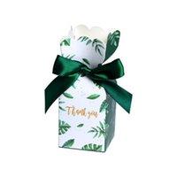 коробка подарка дня рождения младенца оптовых-Зеленые Коробки Конфет Baby Shower Сувениры Свадебный Подарок Бумажная Коробка Подарочная Сумка День Рождения Рождественские Поставки Свадебные Украшения