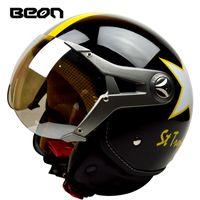Wholesale motorcycle half helmets visor for sale - Group buy BEON Motorcycle Helmet Half Face Goggles Visor Vintage Motorbike Helmet Capacete Motorcycles Electric Bicycle Helmets