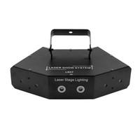 dmx 512 disco dj light al por mayor-6 lentes DMX 512 RGB Escaneo a todo color Etapa Luz láser Seis ojos Haz 16 patrones Luz láser Fiesta en casa DJ Disco Proyector de iluminación láser