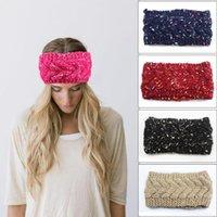 örme turban büküm kafa bandı toptan satış-Kadınlar Örme Kafa 8 Renkler Stretch Kış Sıcak Büküm Tığ Saç Bandı Beanie Turban Kızlar Saç Aksesuarları OOA7386