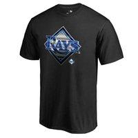 ingrosso vendita delle baia-Vendita all'ingrosso 2019 MLB nuova stagione Tampa Bay Rays Carl Crawford Scott Kazmir personalizzato qualsiasi numero Nome uomini e donne felpe T-shirt