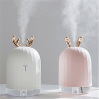 nebulizador al por mayor-220ML Ultrasónico Humidificador de aire Aroma Difusor de aceite esencial para el hogar Coche USB Fogger Mist Maker con lámpara de noche LED