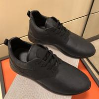 zapatos casuales de cuero marrón de los hombres al por mayor-Diseñador de lujo Fastlane Sneaker Classic Mans Monogram Leather Sneakers Hombre Negro Marrón con cordones Zapatillas Senderismo Zapatos de escalada Zapatos casuales