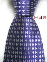 ingrosso legami color lavanda-Classico 100% JACQUARD WOVEN HANDMADE Mens Moda Bianco Carattere / Lavanda / Cielo blu / Viola / Rosso / Multi colore Uomo seta cravatta cravatta 6 colori