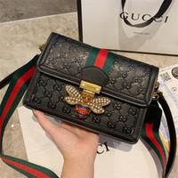 zwei beuteltaschen großhandel-Lady Marke Designer Crossbody Taschen mit zwei Riemen hochwertige Echtleder Designer Umhängetaschen Großhandel Frauen Handtaschen