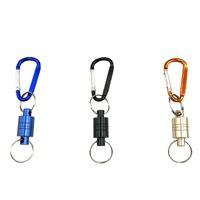 schaukeln großhandel-Outdoor-Tool Sicherheitsseil Golden Black Starke Magnetische Klammern Klettern Tragbare Hang Zangen Handschuh Kleine Karabiner