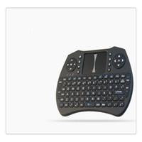 raspberry pi frete grátis venda por atacado-Mini Sem Fio 2.4 Ghz Teclado Retroiluminado Perfeito para Raspberry Pi PC Android com Tela Sensível Ao Toque de Controle Remoto Frete Grátis